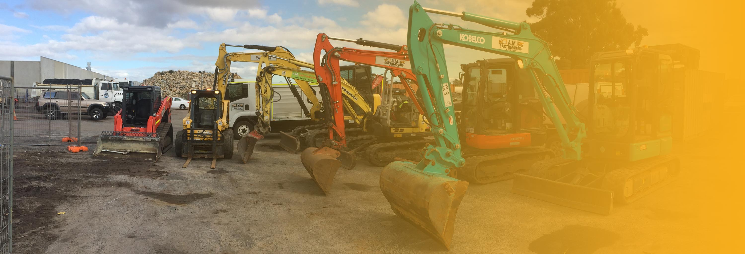 am earthmoving excavators header