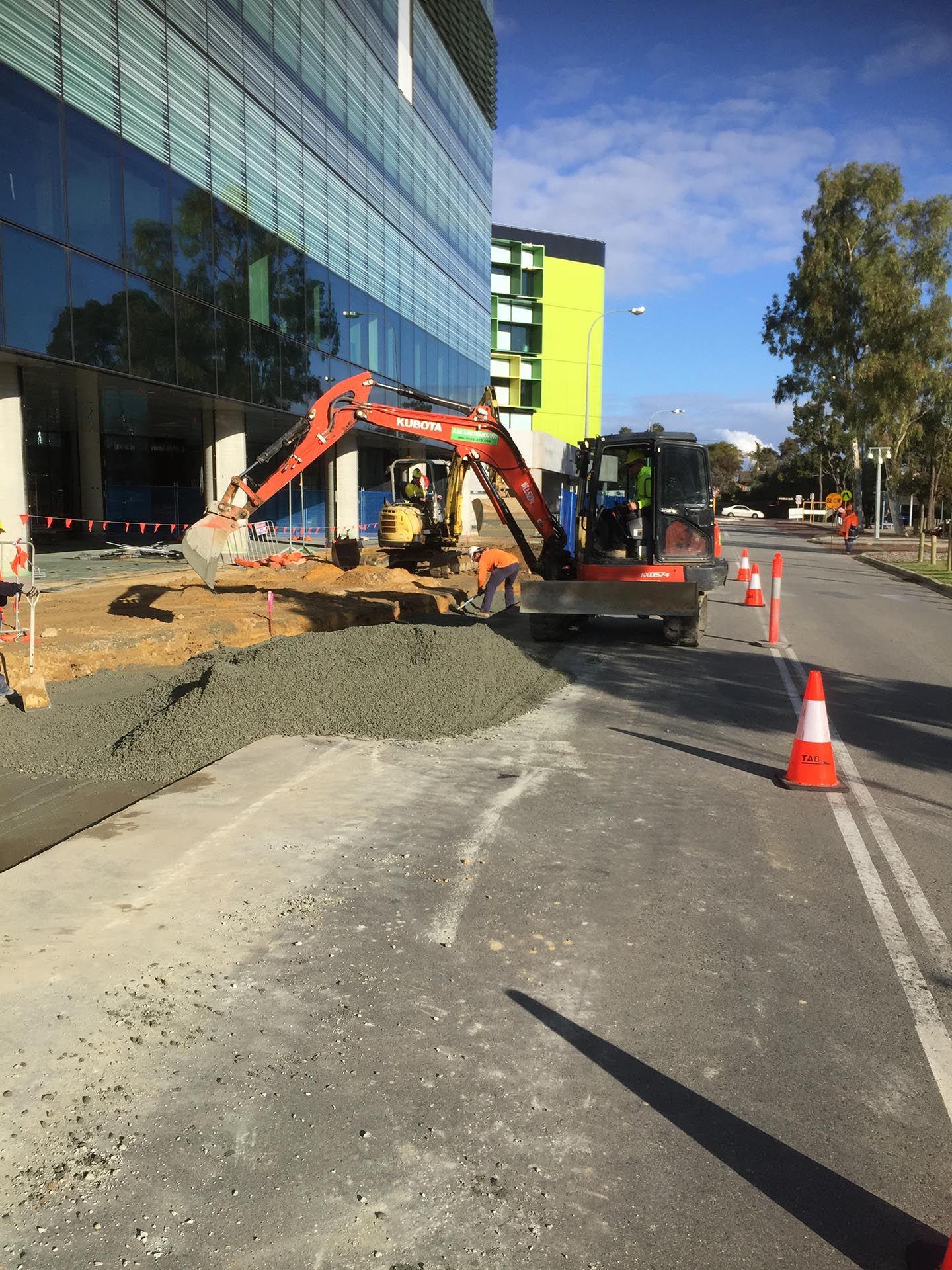perth childrens hospital project a.m. earthmoving